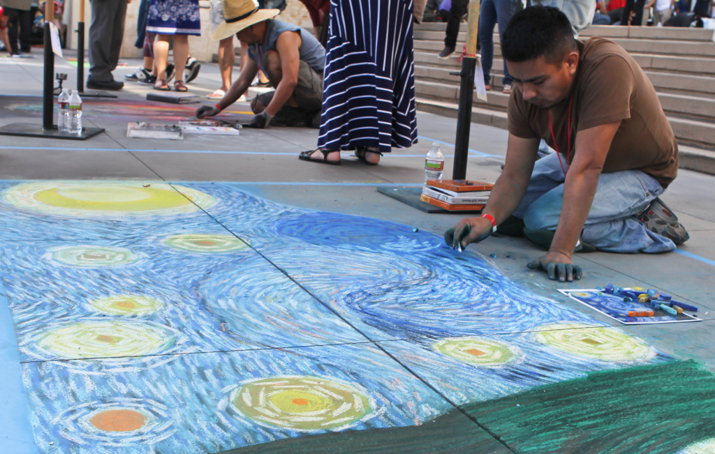 Isreal Arzaluz recreates Vincent Van Gough's