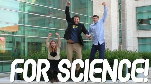 Car commercial? Nope. Jessica Richman, Zachary Apte (center) and William Ludington are looking to the crowd for money to fund uBiome, which will sequence the genetic code of microbes that live on and inside humans.