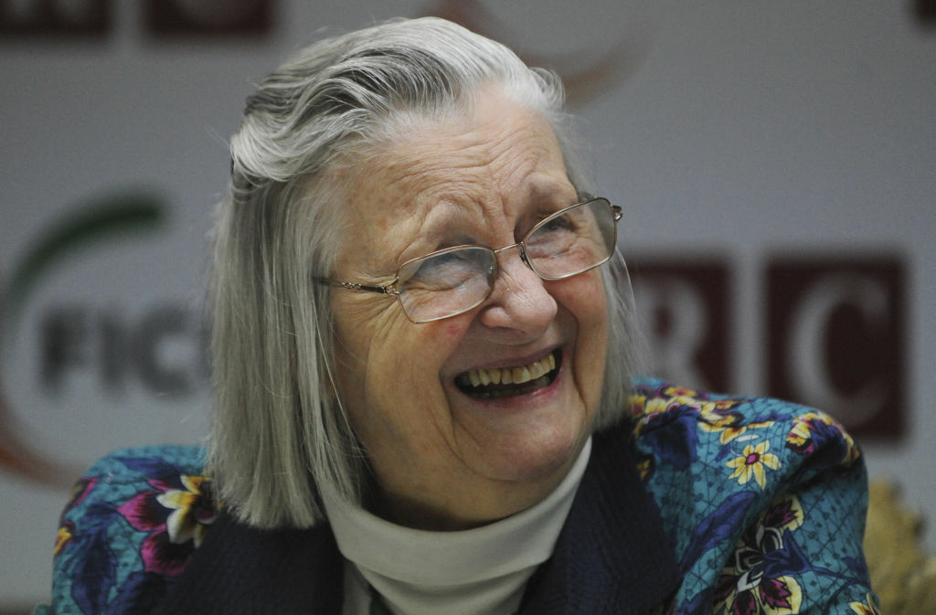 Elinor Ostrom, Nobel Laureate in Economics and Professor at the Indiana University smiles during a conference in New Delhi on January 5, 2011. Ostrom died Tuesday morning, at 78.