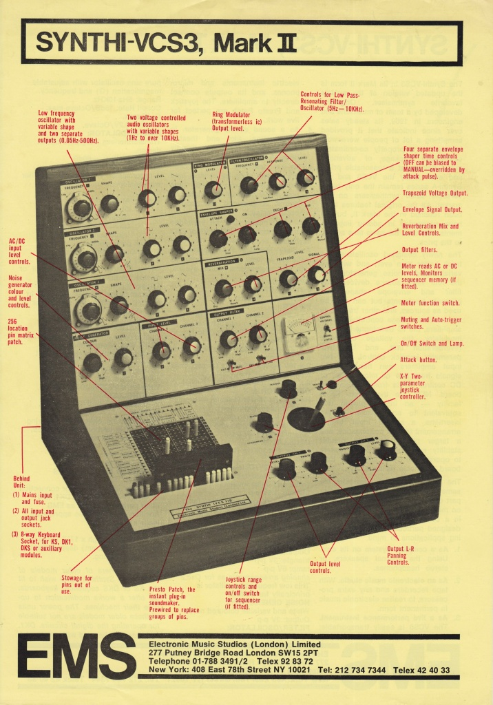 Jarre traded his electric guitar for an early EMS synthesizer nicknamed