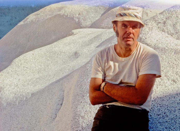 John Robinson in 1971 leading a Sierra Club  Desert Peaks Section outing to El Picacho de Diablo peak in Baja California, Mexico.