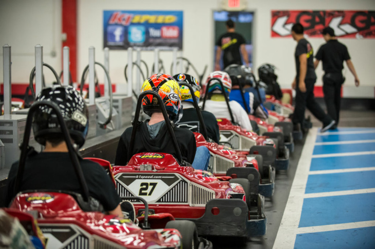 KC Cook races in the K1 Speed Grand Prix.