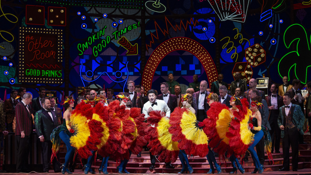 <em>Vegas, Bambino! </em>The Metropolitan Opera's 2019 production of <em>Rigoletto</em>.