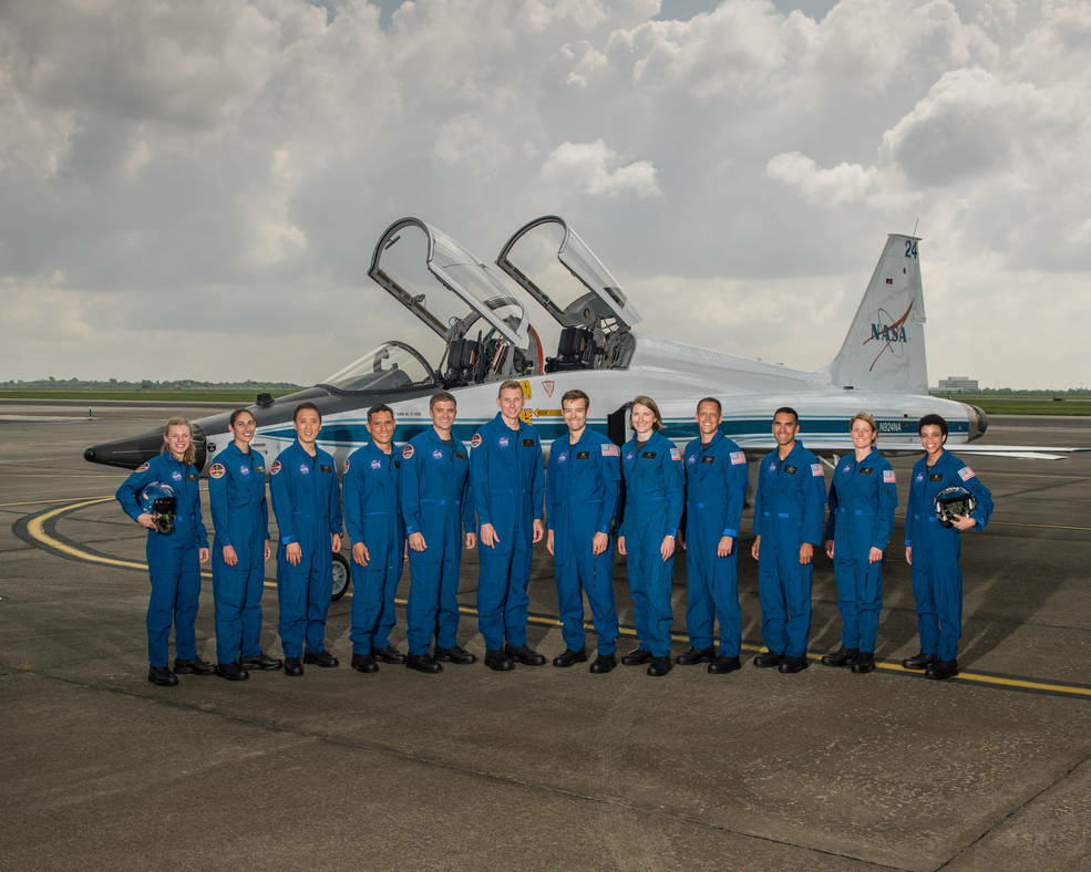 2017 NASA Astronaut Candidates. Photo Date: June 6, 2017. Location: Ellington Field - Hangar 276, Tarmac.