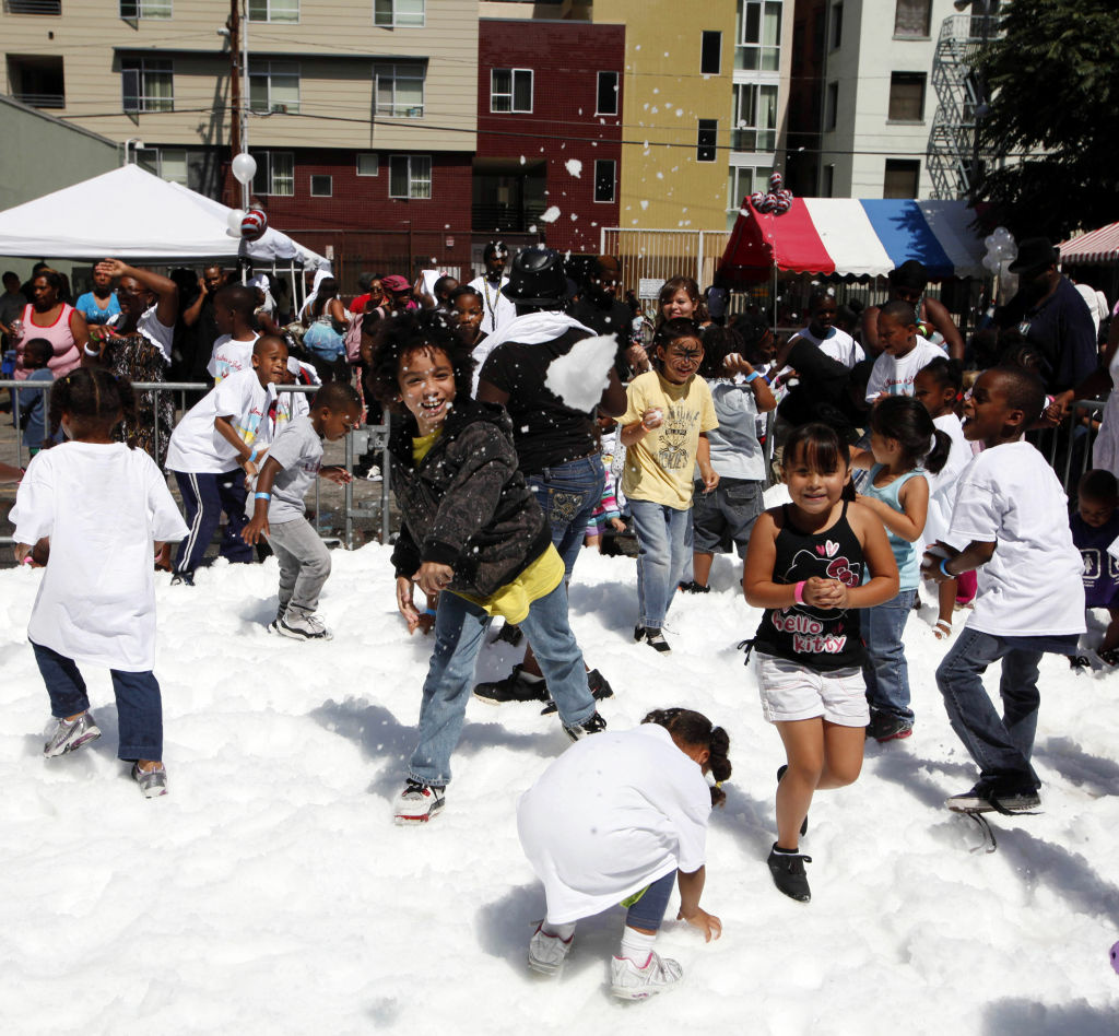 July 11, 2012: Christmas in July at Union Rescue Mission in DTLA.
