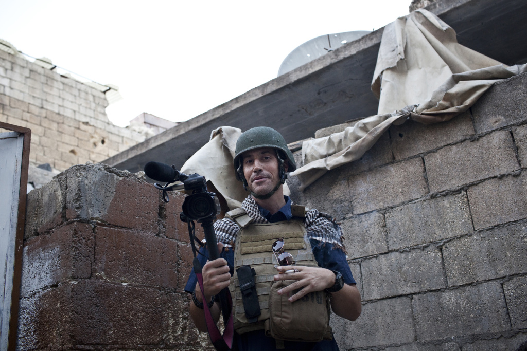Jim Foley in the Karm Jebel neighborhood of Aleppo that was being fought over in November, 2012.