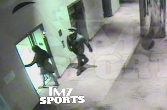 Still image of Ray Rice and then fiancee Janay Palmer getting on an elevator in Atlantic City. This was the first video that TMZ released that ultimately led to Rice being released from the NFL, and an internal investigation into how the NFL handled the situation