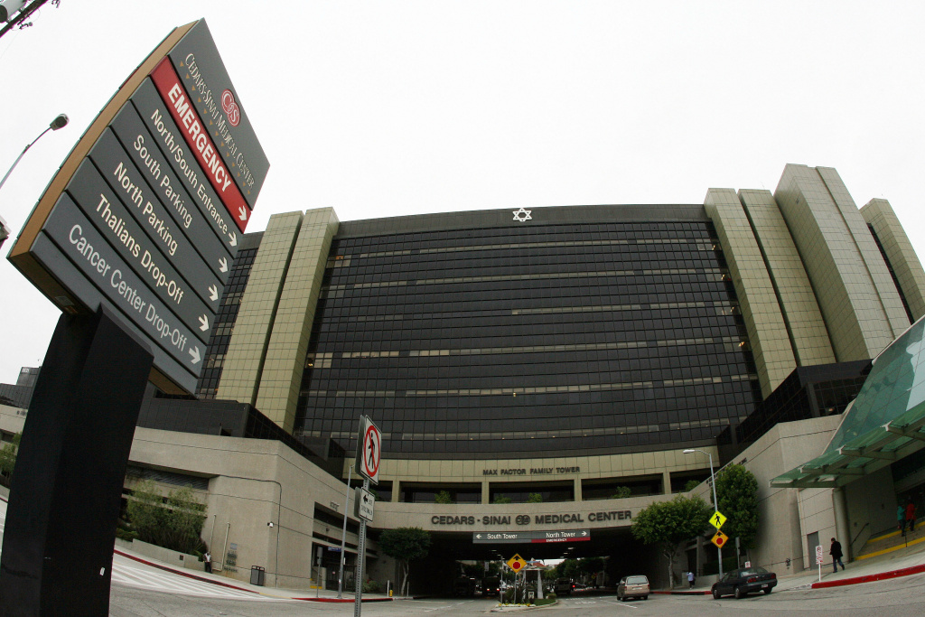 View of the Cedars Sinai Hospital in Los Angeles