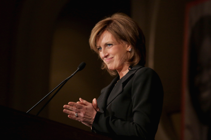 Co-Chair of Disney Media Networks and President of Disney/ABC Television Group Anne Sweeney speaks onstage during the Girls Inc. Los Angeles Celebration Luncheon at Beverly Hills Hotel on November 20, 2013 in Beverly Hills.