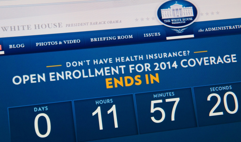 This image shows the home page for the White House site indicating the amount of time remaining before open enrollment for the Affordable Care Act closes.