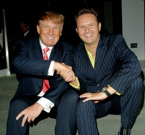Donald Trump with Mark Burnett, creator of