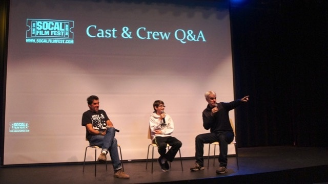 Guy Davis, owner of the So Cal Film Fest, hosts a Q and A.