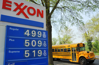 Gas prices in April in Washington, D.C. reach $5 a gallon.