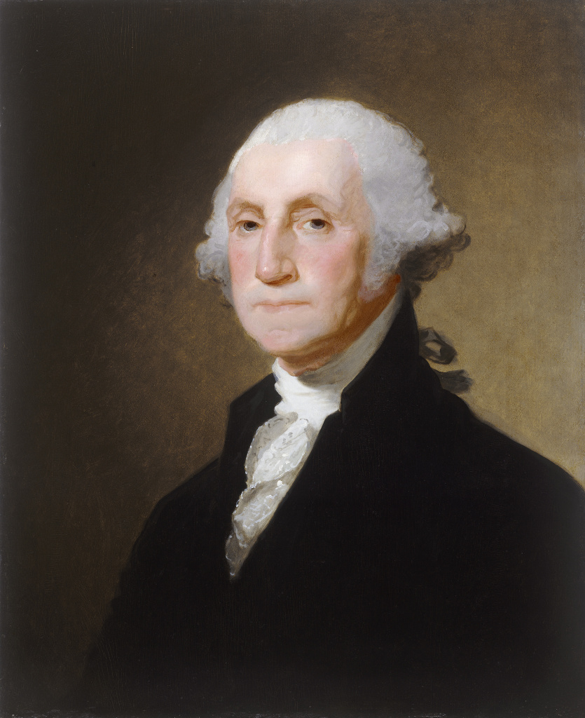 Gilbert Stuart (American, 1755 - 1828 ), George Washington, c. 1821, oil on wood, Gift of Thomas Jefferson Coolidge IV in memory of his great-grandfather, Thomas Jefferson Coolidge, his grandfather, Thomas Jefferson Coolidge II, and his father, Thomas Jefferson Coolidge III