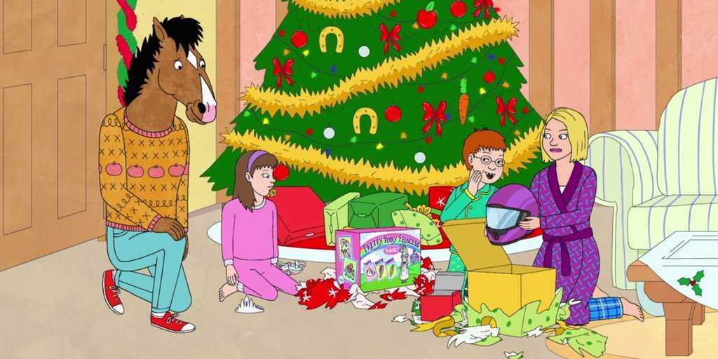 Still from the Bojack Horseman Christmas Special
