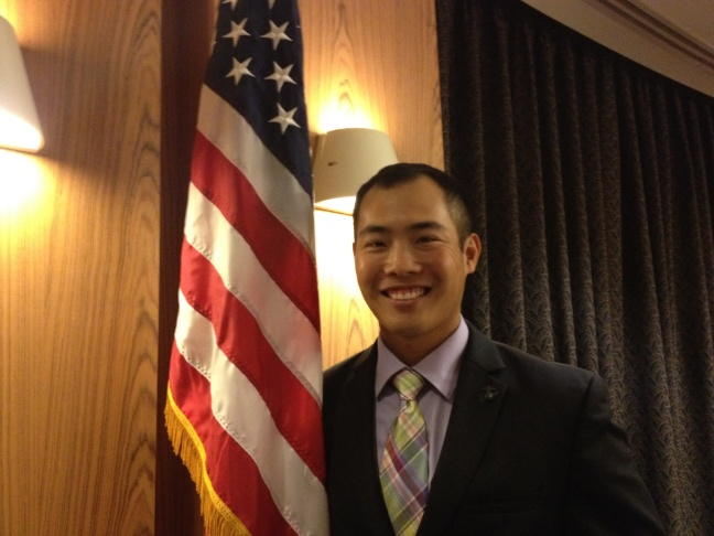 Danny Chee Kwan is an Iraq War veteran who is participating in an Asian American leadership academy in Southern California.