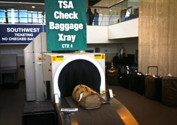TSA baggage X-ray at LAX.