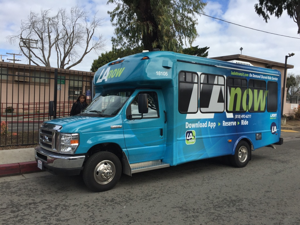 LADOT's new on-demand ride share service.