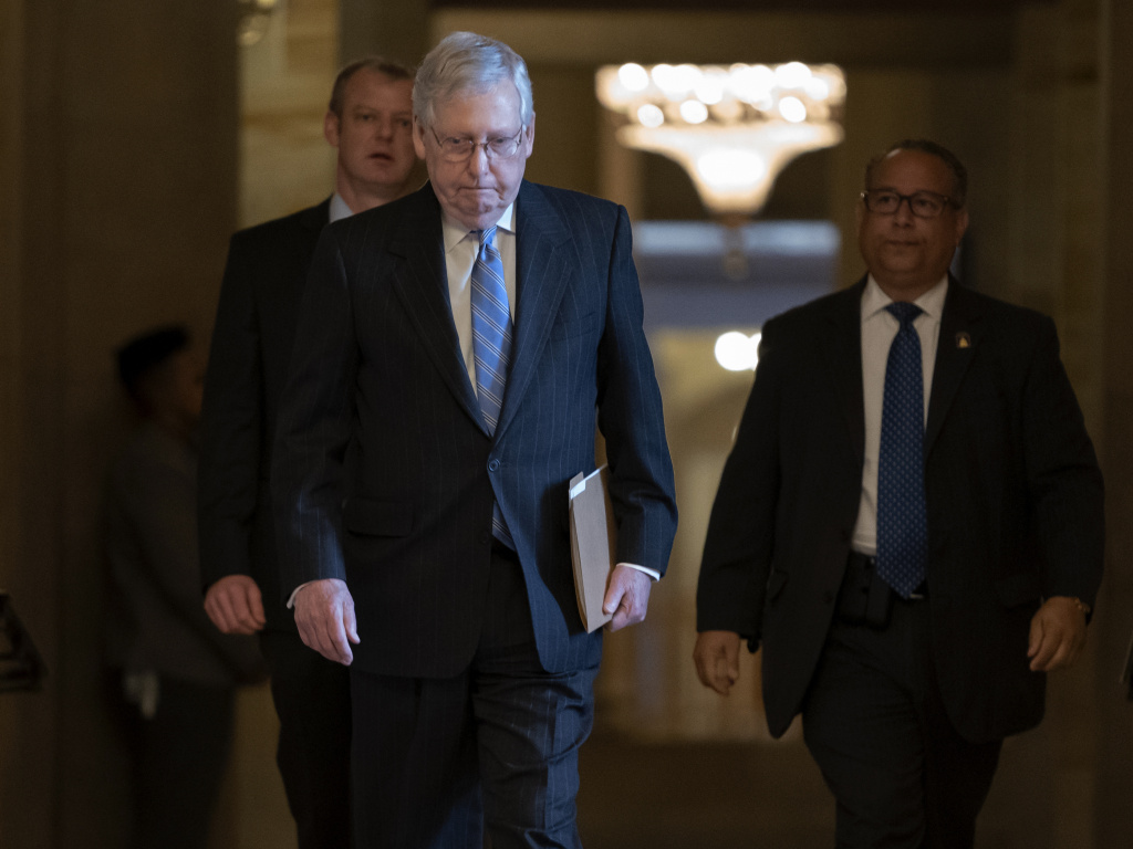 Senate Majority Leader Mitch McConnell, R-Ky., is expected to release a GOP-led coronavirus response bill Thursday.