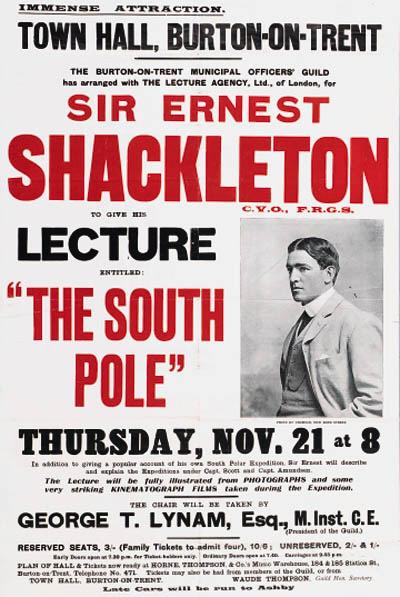 Ernest Shackleton would have been a shoo-in for the Distinguished Speaker Series.
