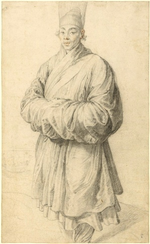"""Man in Korean Costume,"" by Peter Paul Rubens, c 1617."