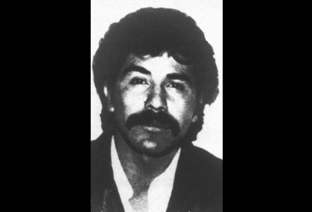 The undated file photo distributed by the Mexican government shows Rafael Caro Quintero, considered the grandfather of Mexican drug trafficking. A Mexican court has ordered the release of Caro Quintero after 28 years in prison for the 1985 kidnapping and killing of U.S. Drug Enforcement Administration agent Enrique Camarena, a brutal murder that marked a low-point in U.S.-Mexico relations.