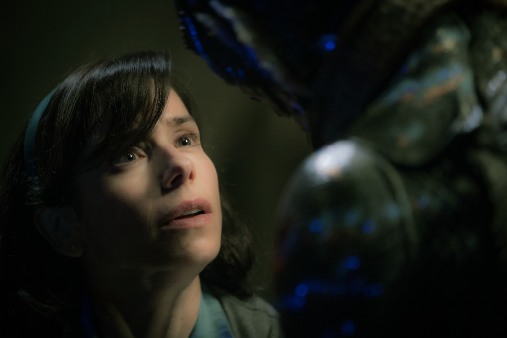 Sally Hawkins and Doug Jones in the film THE SHAPE OF WATER. Photo by Kerry Hayes.