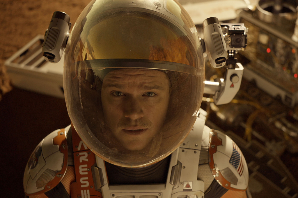 Astronaut Mark Watney (Matt Damon) in the movie