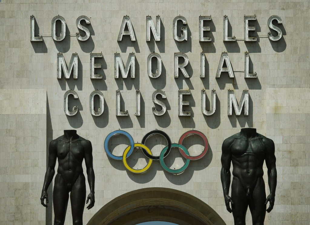 File: The Los Angeles Memorial Coliseum, venue for two previous Olympic Games, is seen on August 26, 2015 in Los Angeles, California.