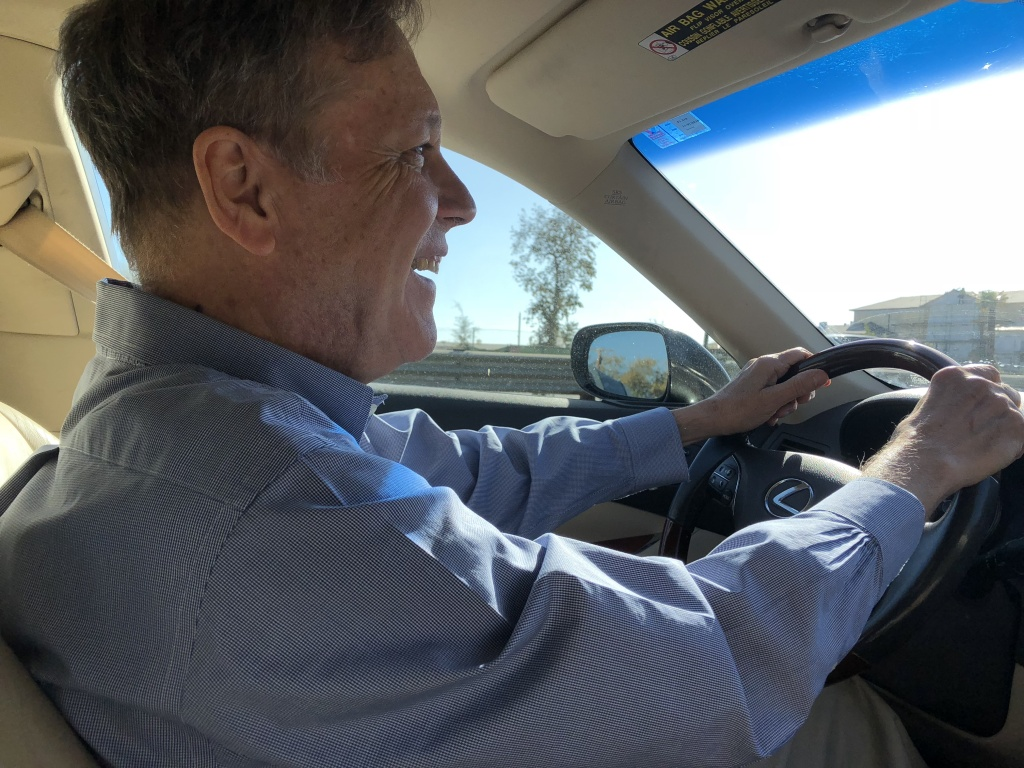 Dana Gioia, whose two-year term as California's poet laureate ended in Oct. 2018, drives to Santa Barbara. Gioia visited all 58 counties in the state during his term.