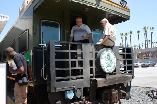 Visitors were given tours of private rail cars, Amtrak, and Metrolink trains on National Train Day at Union Station on May 8, 2010 in Los Angeles, Calif.