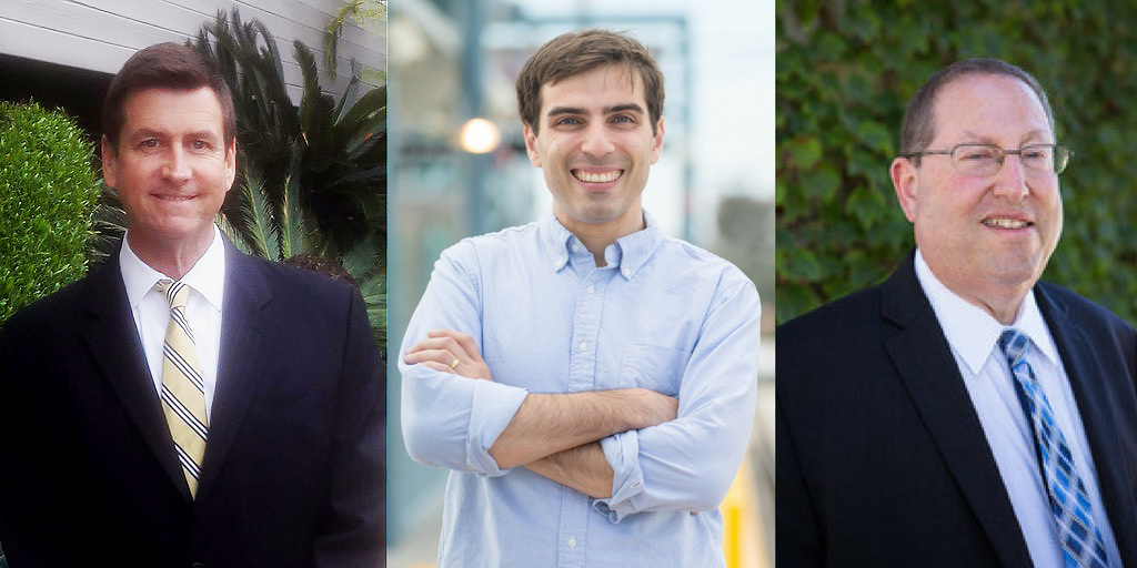 L-R: Mark M. Herd, Jesse Creed and incumbent Paul Koretz are running for Los Angeles City Council District 5.