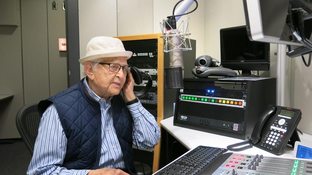 Norman Lear at the NPR studios in Culver City, CA.