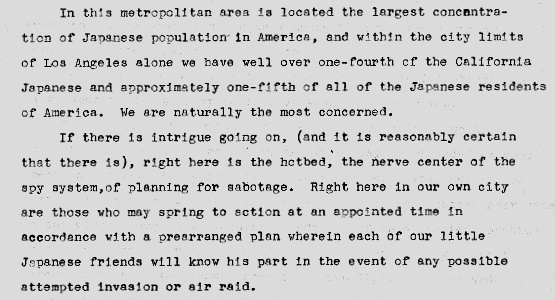 A radio speech LA Mayor Fletcher Bowron delivered on February 5, 1942.