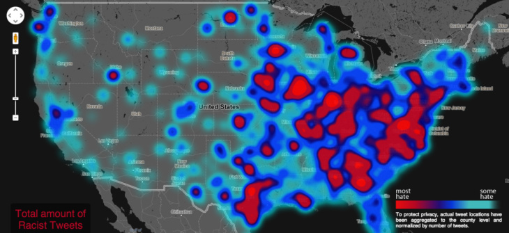 MAP: \'Geography of Hate\' map shows where racist, homophobic speech ...