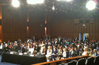 Packed house at the Senate hearing on the Dream Act