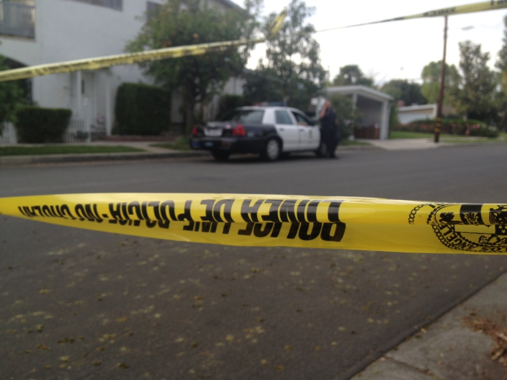 Los Angeles police guarded the Northridge home of the 10-year old girl after she was kidnapped from her bedroom early March 27.