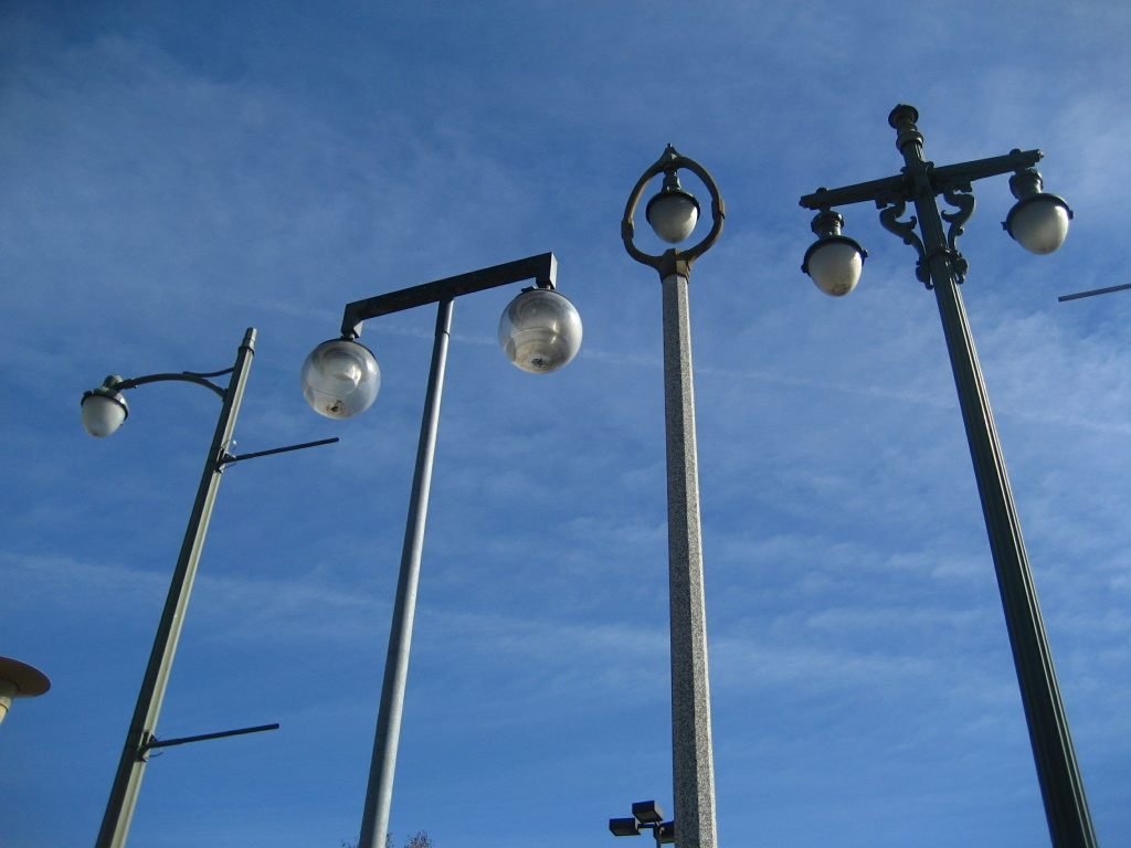 There were 25 street lamps, some dating back to 1925, in the Vermonica installation.