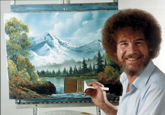 Bob Ross, the late host of the PBS series