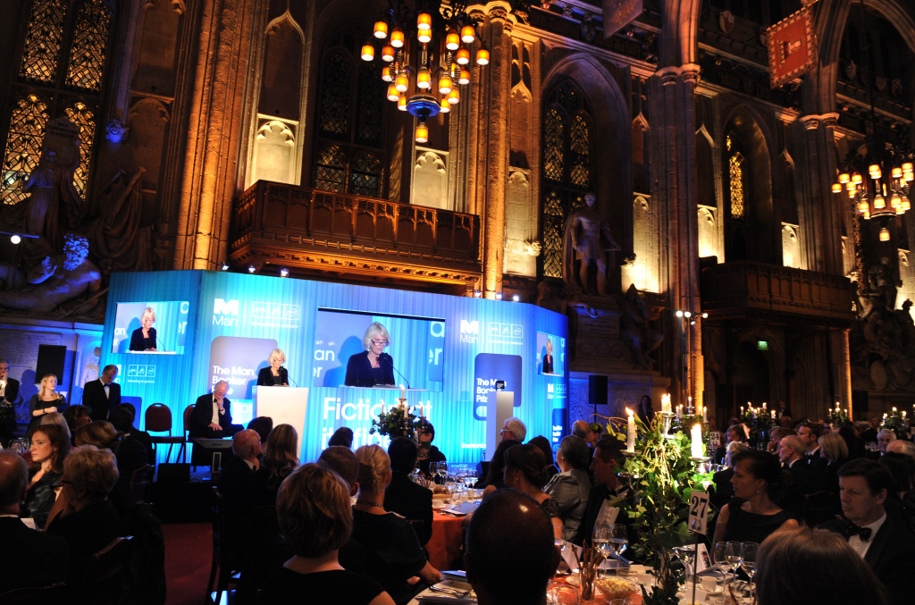 Camilla, Duchess of Cornwall makes a speech at the 2013 Man Booker Prize for Fiction reception at The Guildhall on October 15, 2013 in London, England.