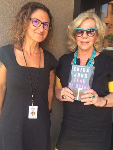 Host Alex Cohen with author Erica Jong.