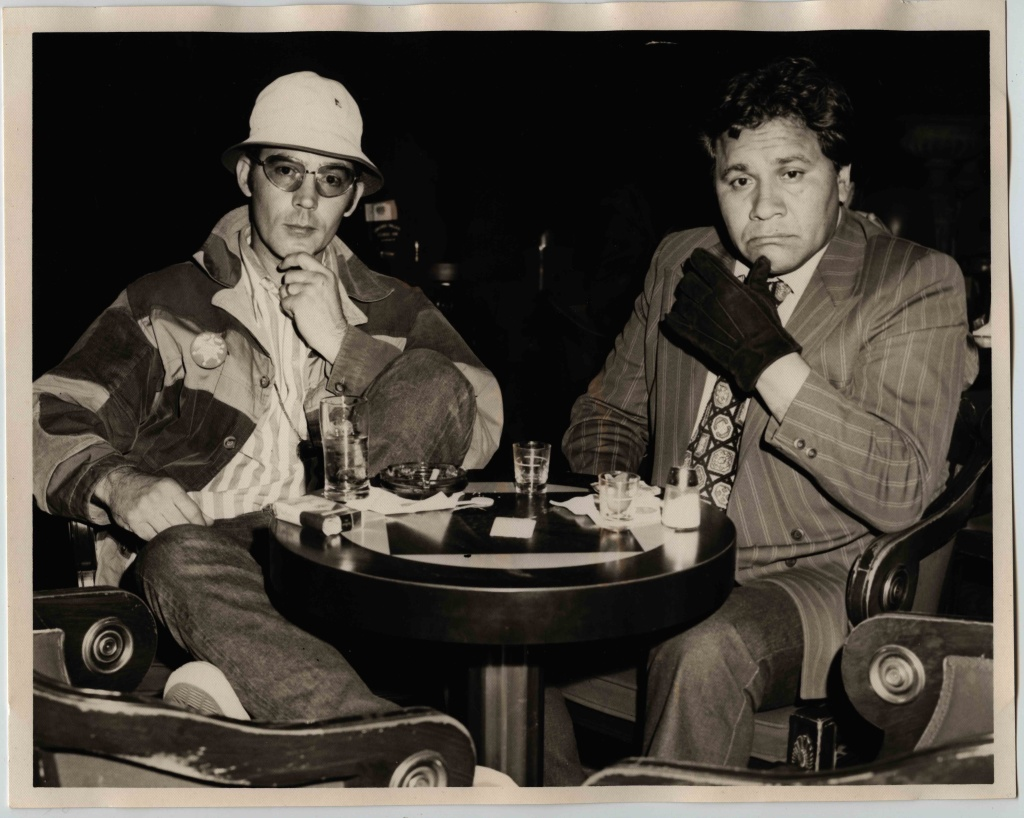 Hunter S. Thompson and Oscar Zeta Acosta, Las Vegas, Ceasar's Palace, April 1971,