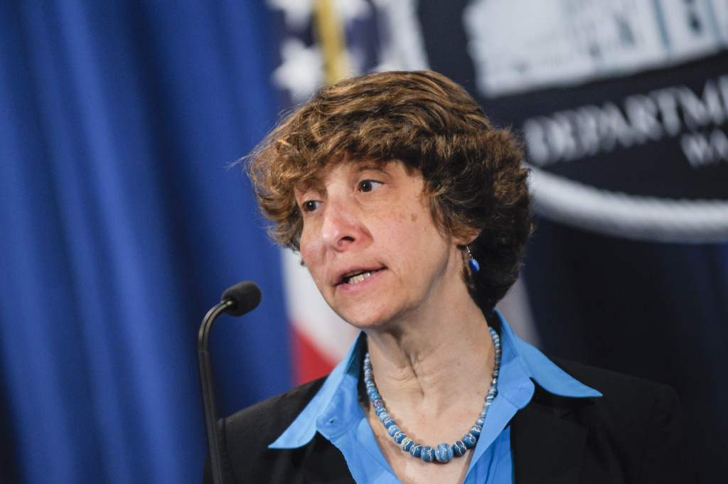Acting Assistant Attorney General for the Civil Rights Division Jocelyn Samuels speaks during a press conference announcing Department of Justice plans to sue North Carolina over Voter ID regulations at the Department of Justice on September 30, 2013 in Washington, DC.