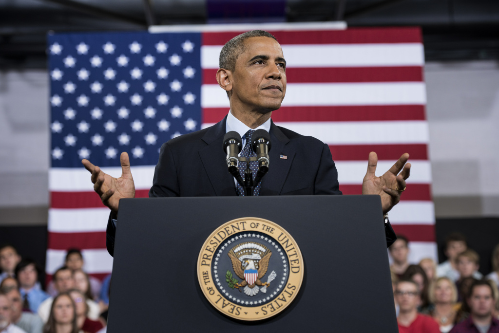 File: President Barack Obama addresses the state of the economy during a speech at Knox College on July 24, 2013 in Galesburg, Illinois.
