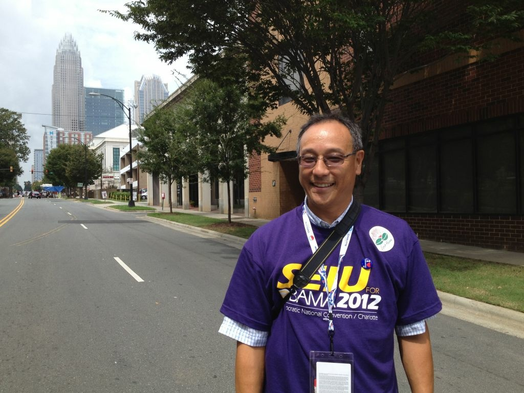 Keith Umemoto is attending his sixth Democratic convention