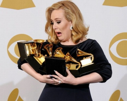 adele wins six grammys in 2012