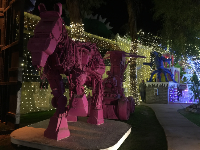File: Robolights in Palm Springs.