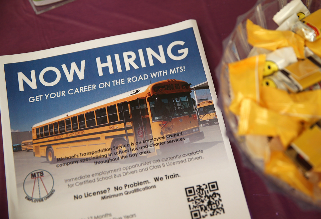 A flier announcing job openings sits on a table during a career fair at the Southeast Community Facility Commission on May 21, 2014 in San Francisco, California. Boosted by strong job gains, U.S. consumer confidence index rose for a fourth straight month in August to 92.4 from 90.3 in July, reaching its highest point in nearly seven years.