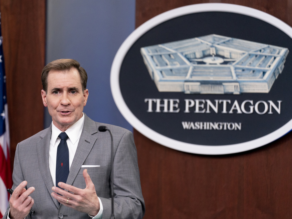 Pentagon spokesman John Kirby, seen here at the Pentagon last week, announced the military's new policies on Wednesday, International Transgender Day of Visibility.