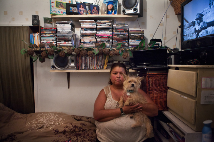 Nancy Jimenez moved into the Travelers Hotel seven years ago and worries that if the hotel closes she'll be living out of her car.